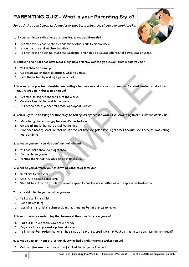 Parent seminar excerpts -six things wise parents do